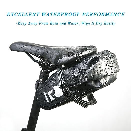 Outon resistente al agua consolador con arnés de bolsa para sillín Bolsa impermeable montaña carretera MTB sillín bicicleta bajo el asiento paquete ...