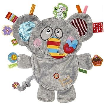 Amazon.com: Etiqueta Etiqueta Amigos elefante sedoso Confort ...