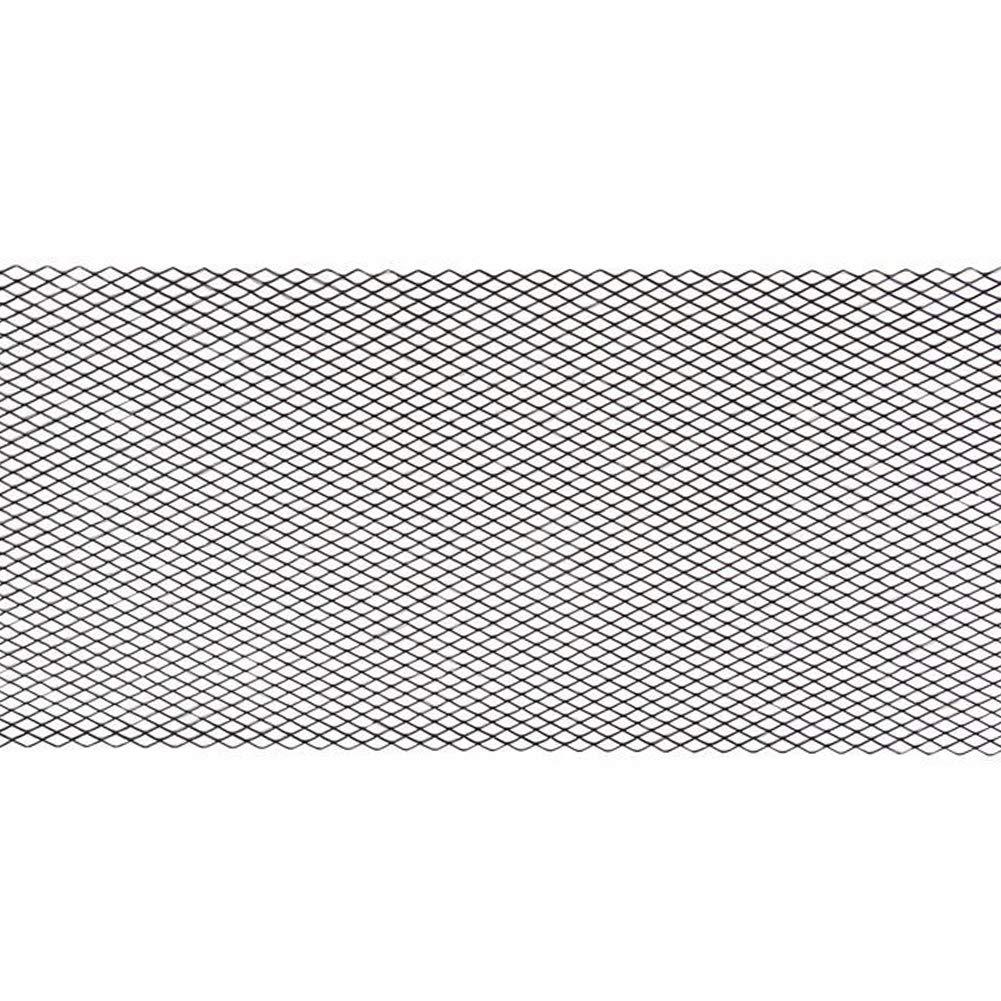 pare-chocs avant en forme de mouettes dentr/ée dair Grille de grille de voiture grille da/ération universelle en alliage daluminium noir