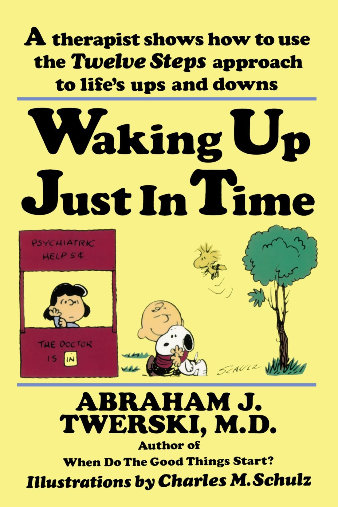 Waking up just in time a therapist shows how to use the twelve steps approach to life s ups and downs abraham j twerski charles m schulz