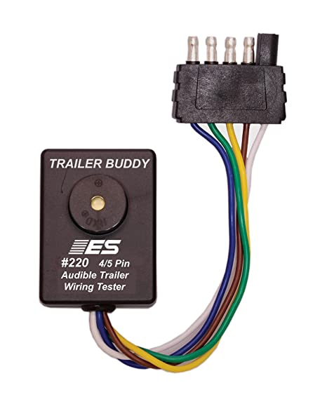 amazon com esi 220 4 5 pin flat trailer wiring buddy automotive rh amazon com 5 pin flat trailer connector wiring diagram 5 flat trailer wiring diagram