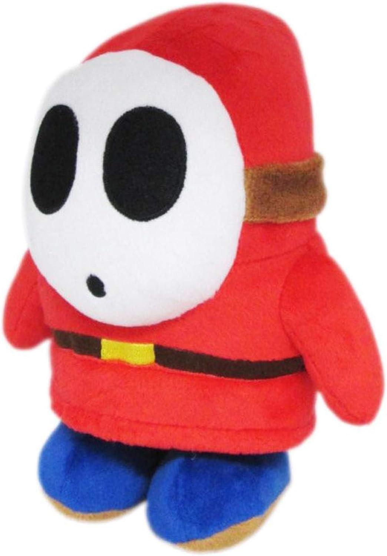 "Little Buddy Super Mario All Star Collection 1591 Shy Guy Stuffed Plush, 6.5"",Multi-colored"