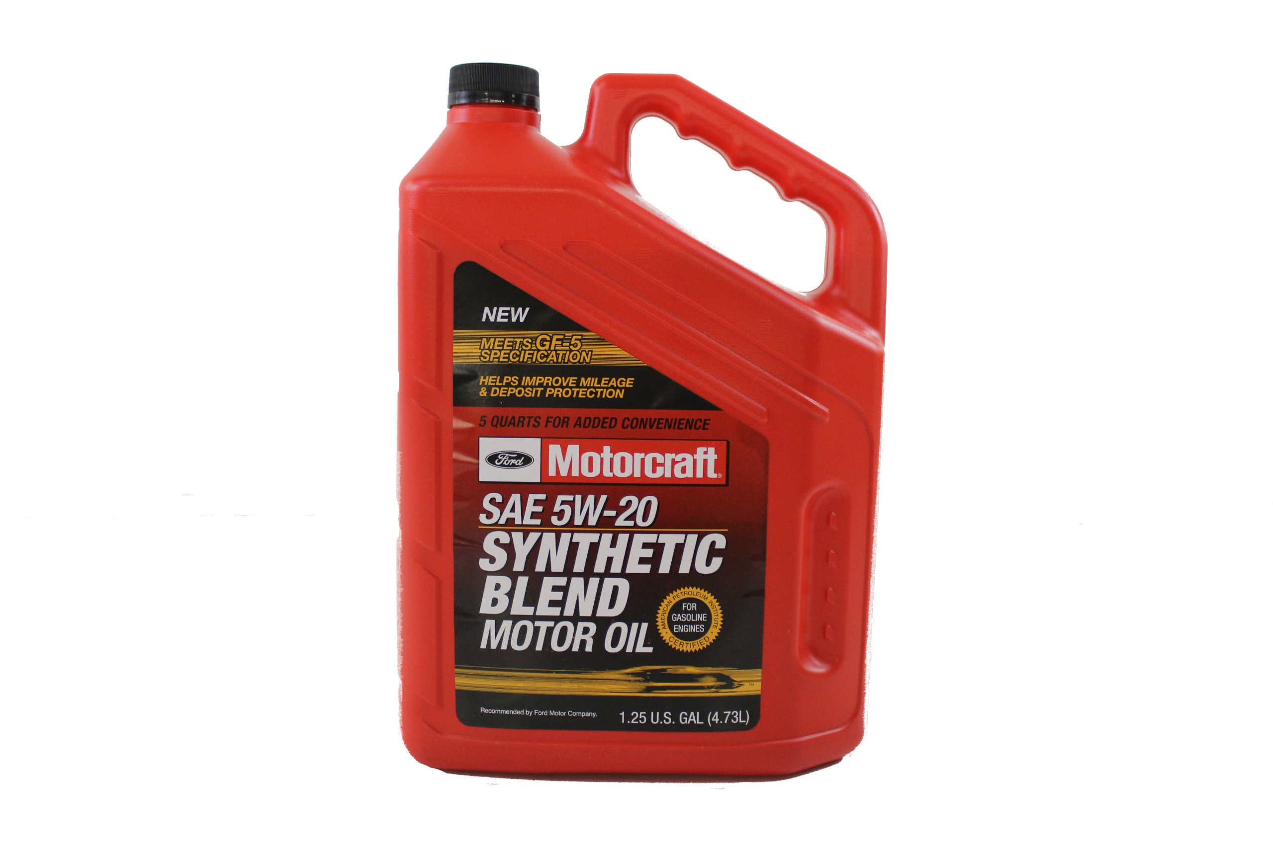 Ford Genuine Fluid XO-5W20-5Q3SP SAE 5W-20 Premium Synthetic Blend Motor Oil - 5 Quart Jug by Ford