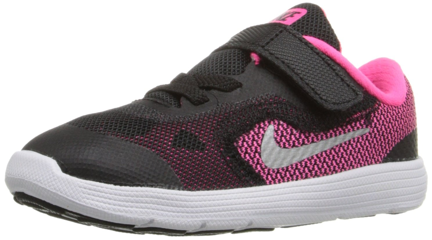 Running Shoe Chlorine Blue//White//Racer Pink//Black 8 M US Toddler 819418 Nike Kids Revolution 3 TDV