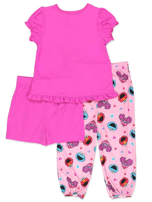 0efabab19777 Amazon.com  Sesame Street Girls 3 piece Pajamas Set (Toddler)  Clothing