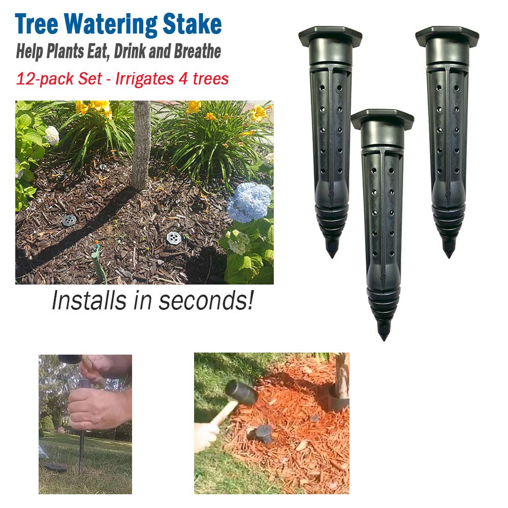 Irrigation Stake 8 inches shrubs 6 Bushes Smart Spring Tree Watering Stake Large for Trees