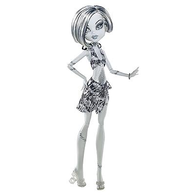 2011 Monster High *Frankie Stein* Poupée Doll Skull Shores Black & White X0593