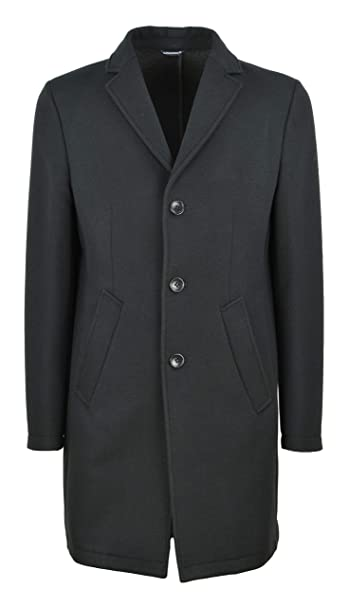 DANIELE ALESSANDRINI GREY uomo cappotto nero T444N7873806