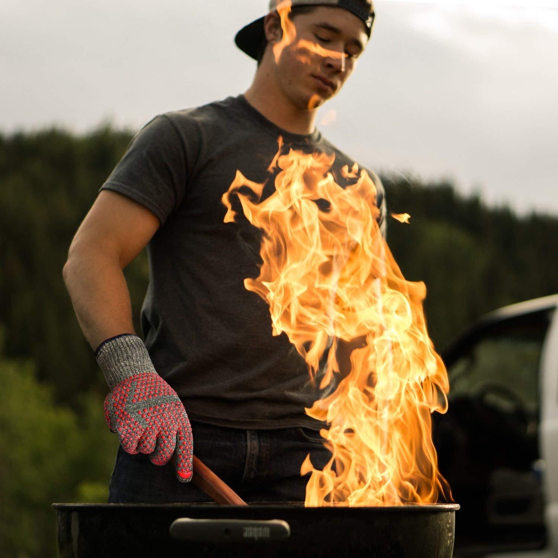 MINISTAR Gants de Cuisine Mitts-Grill 932/℉ Extreme Haute r/ésistant /à la Chaleur Four//Cuisson Gants Super Rapport Qualit/é//Prix