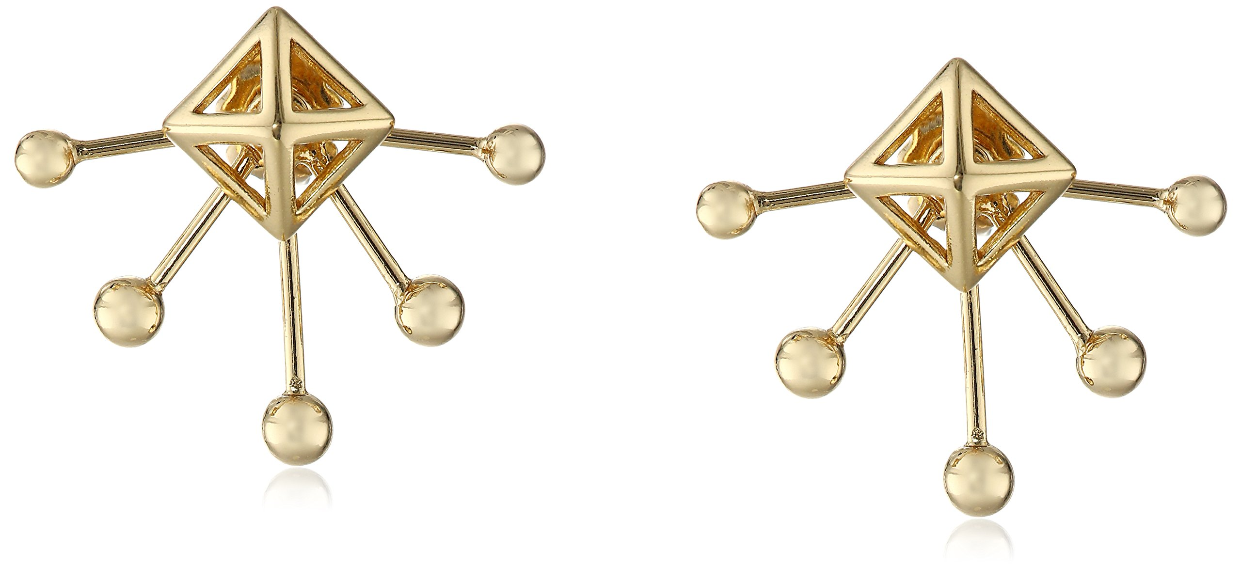 Rebecca Minkoff 14k Gold Two Part Five Spike Post Earrings Jackets