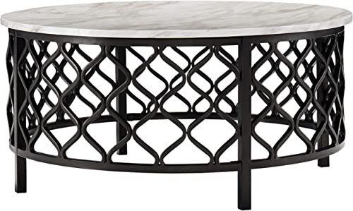 Signature Design by Ashley – Trinson Cocktail Table, Faux Marble