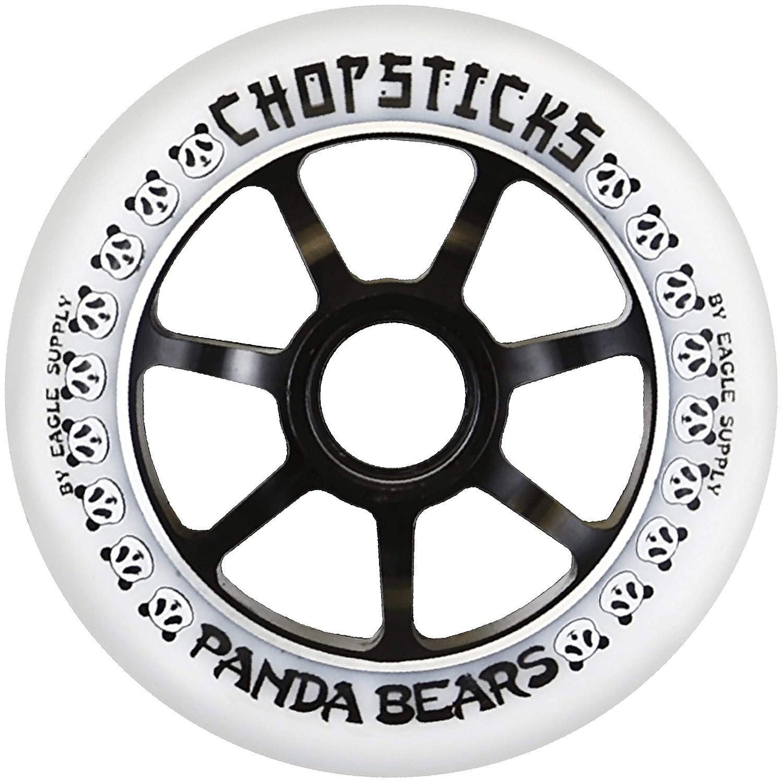 Chopsticks 100mm Panda Bear Wheel White PU