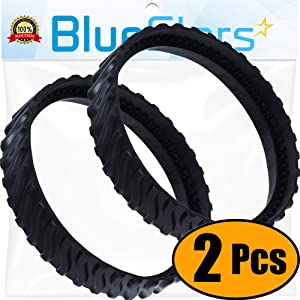 Ultra Durable R0526100 Exact Track Replacement Tire Track Wheel by Blue Stars - Exact Fit for Baracuda MX8 MX6 Pool Cleaners - Heavy Duty Rubber - Improves the tire life cycle by 50% - PACK OF 2