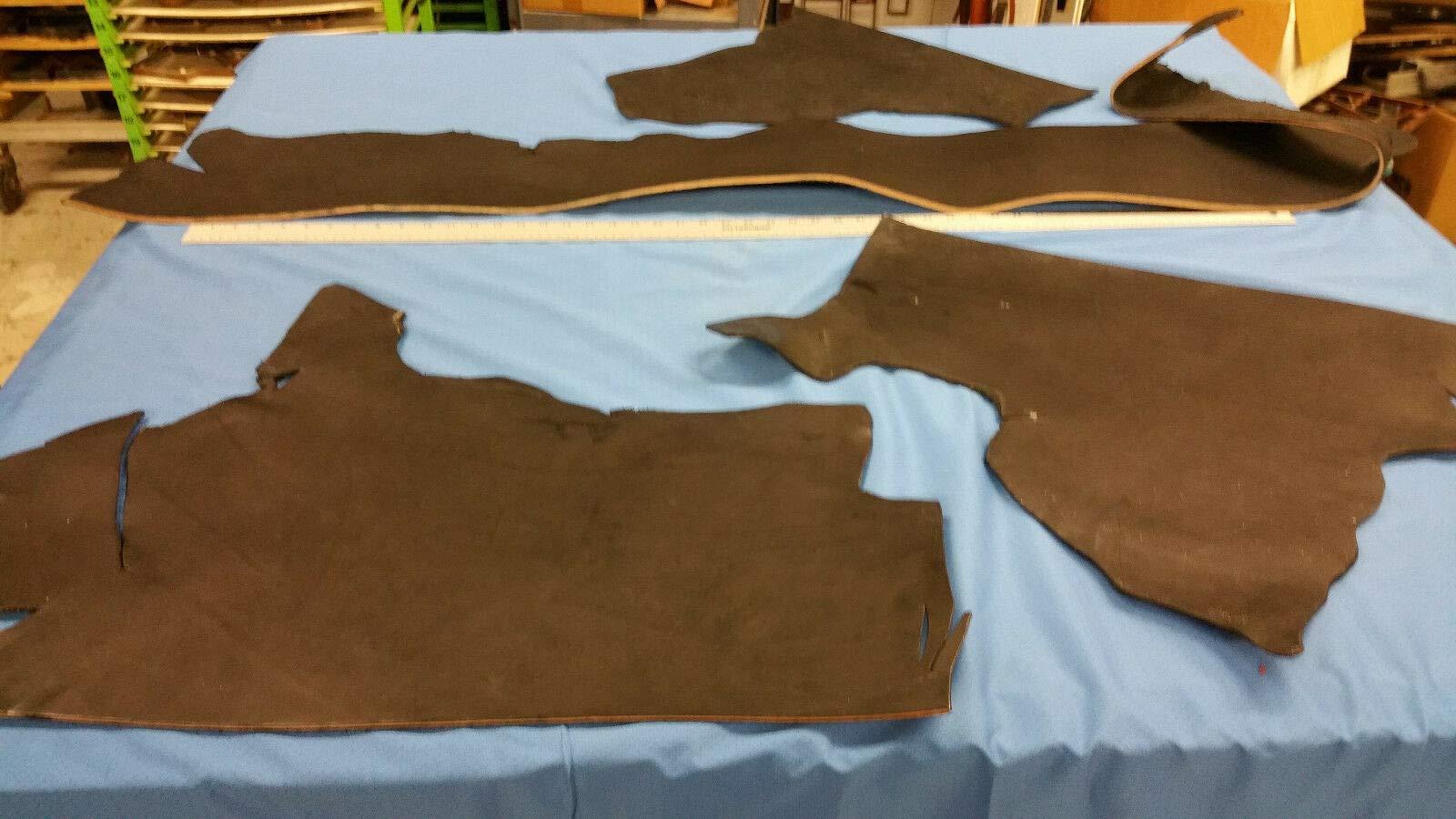Veg-Tann/Harness/Bridle Full Grain Leather Black, Bundle #11/10 oz +