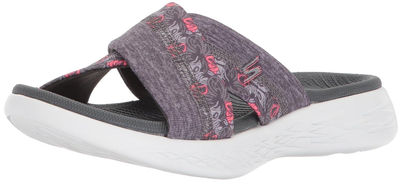 Skechers Women's on-The-Go 600-Monarch Slide Sandal B072T4GW3S 5 M US Gray
