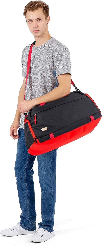 MOSISO Sac de Sport avec Compartiment Chaussures Sac Voyage en Tissu Nylon