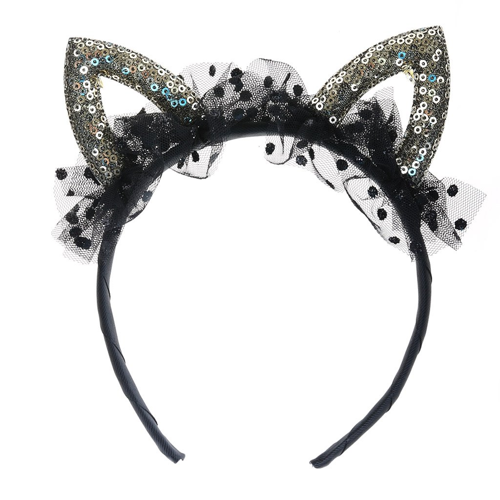 Buy Sequined Cat Ear Headband (Black) Online at Low Prices in India ...