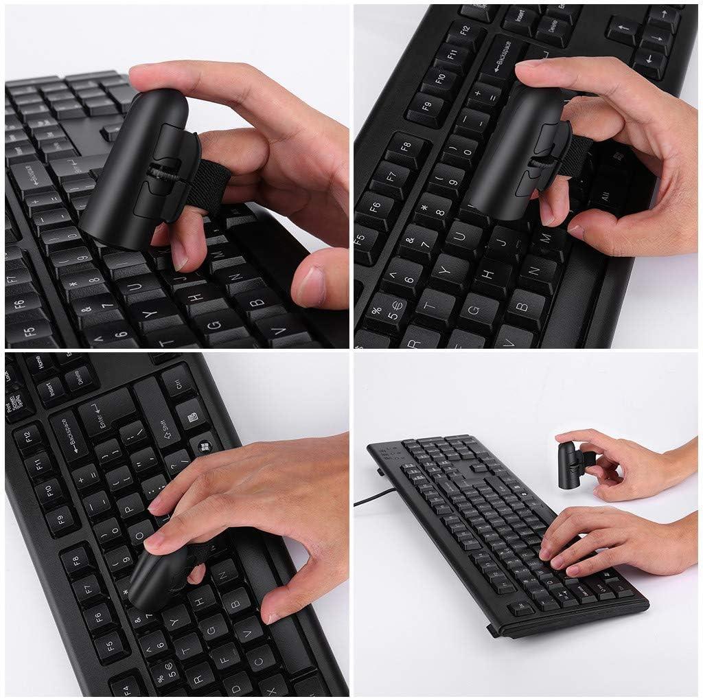 FBGood Drahtlose Finger-Maus Mini-Bluetooth-Funk-Fingerring-Maus Ergonomische optische Handreisem/äuse Smart Save Power