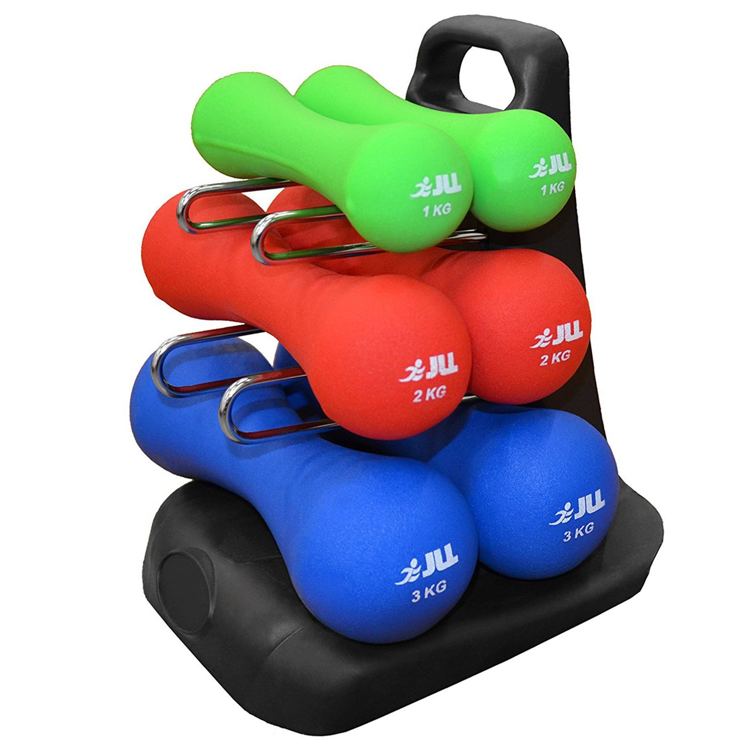 JLL® Ergonomic Neoprene Dumbbells Set Hand Weight Exercise Fitness Home Gym