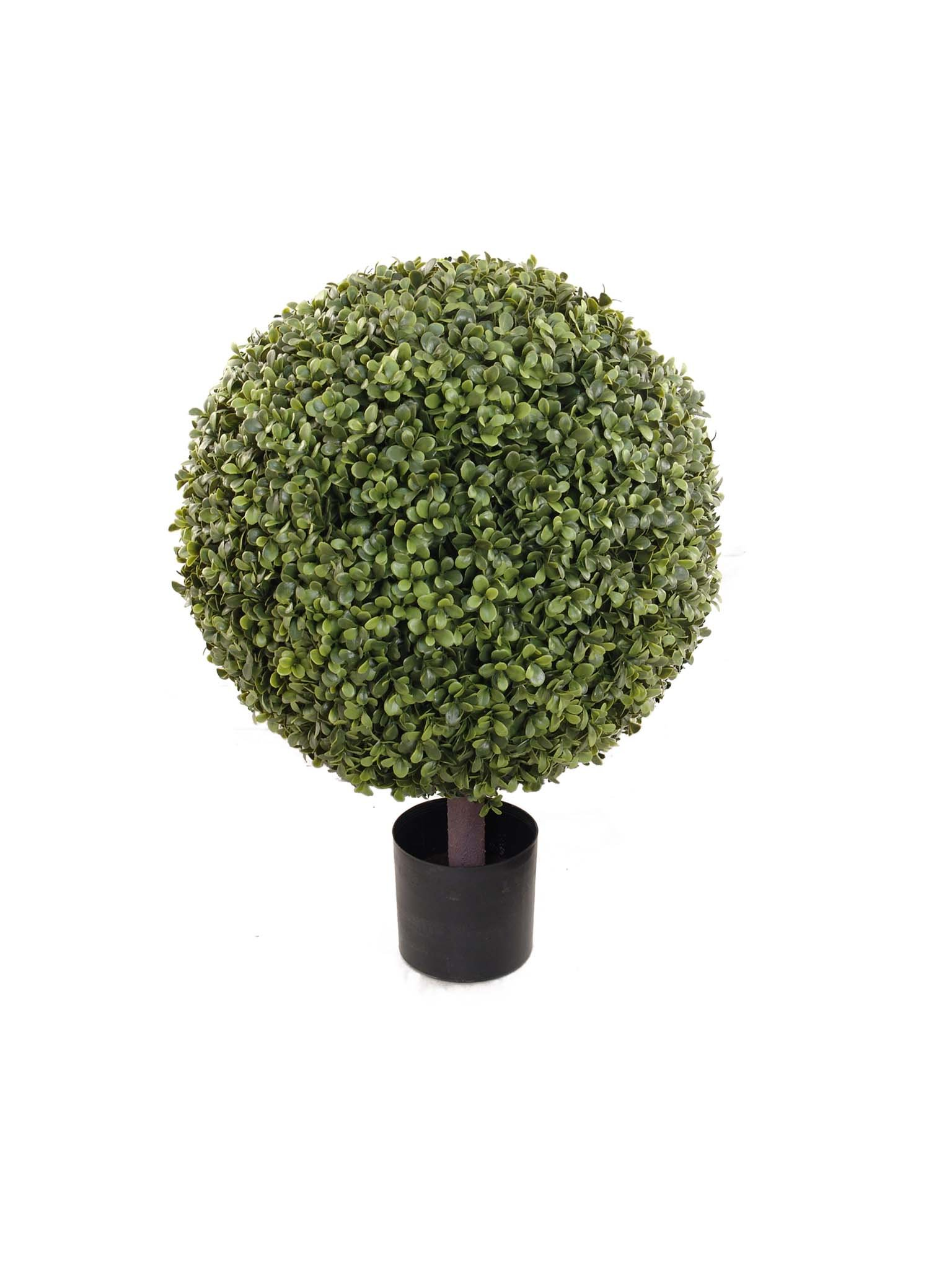 "Larksilk 26"" Boxwood Topiary Artificial Ball Tree Plant - Outdoor Topiary Trees Artificial Plants for Home Decor Indoor and Outdoor (Set of 2) by Hanford-design (Image #1)"