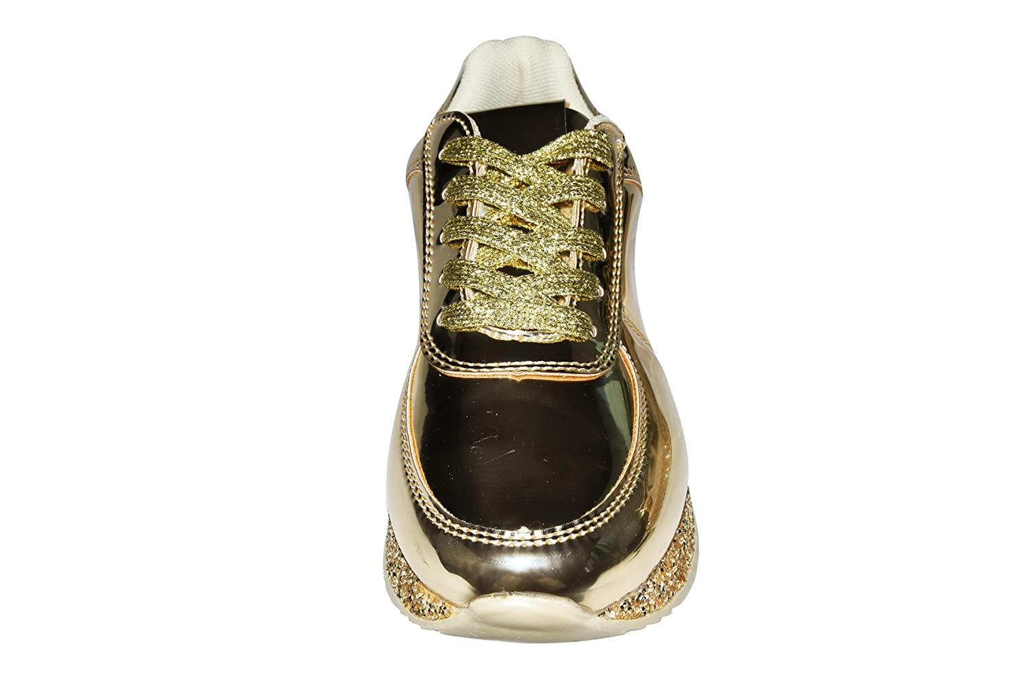 e20c603215ef ... ROXY ROSE ROSE ROSE Women Fashion Metallic Sneaker Glitter Flatform  Quilted Lace up Casual Shoes B077HXNDVF ...