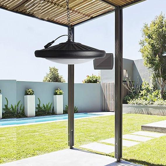 SRFDD Colgante de luz Solar - al Aire Libre Control Remoto Lámpara ...