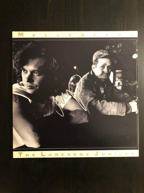 John Mellencamp Signed Autograph - Vinyl Album Record Lp - The Lonesome Jubilee - Music Albums