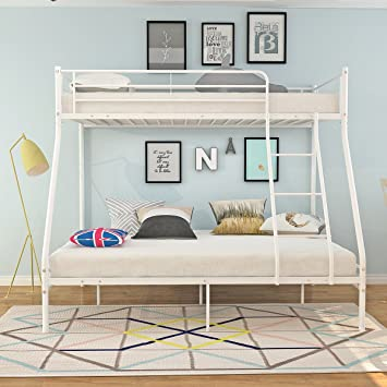 Bon Shop Triple Sleeper Metal Bunk Bed 3 Person For Children Kids