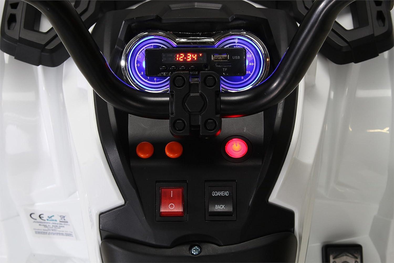 Actionbikes Kinder Elektro Quad Offroad 2 x 35 Watt Gr/ün