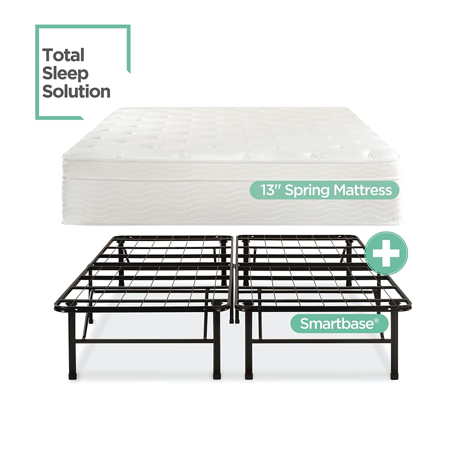 Amazoncom Night Therapy 13 Inch Euro Top Spring Mattress Bed