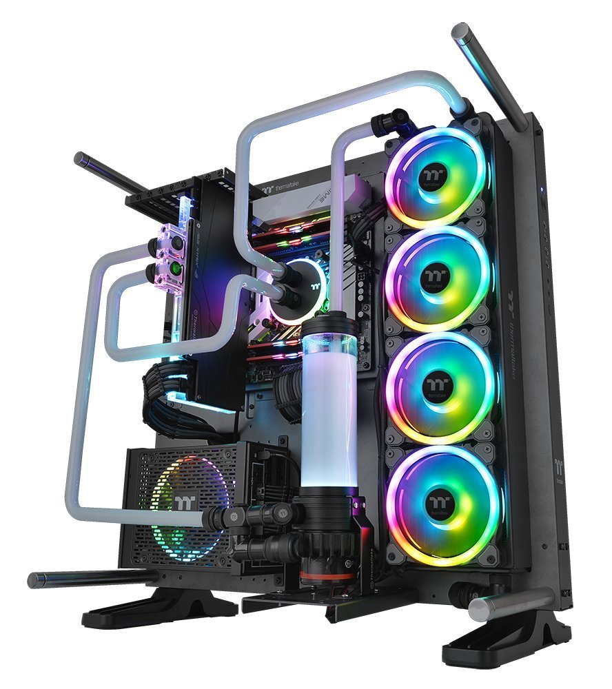 Thermaltake Riing Trio 12 RGB TT Premium Edition 120mm Software Enabled 30 Addressable LED 9 Blades Case/Radiator Fan - 3 Pack - CL-F072-PL12SW-A by Thermaltake (Image #6)