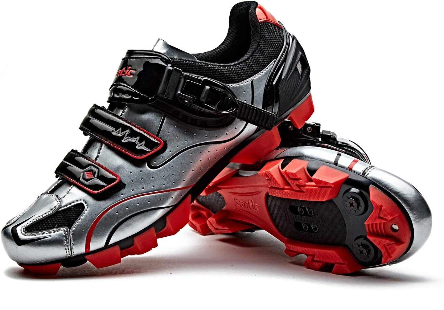 Santic Cycling Shoes Men SPD Mountain Bike Lock Shoes MTB Cycling Accessories Breathable Self-Locking Shoes Road Cycling Shoes KNIGHT2