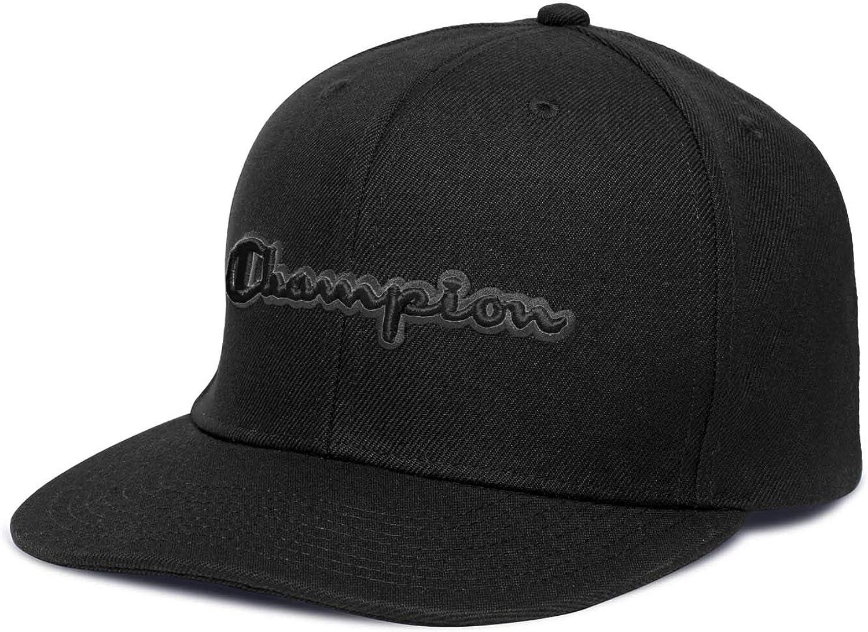 Champion Baseball Snapback Hat with Script Gorra de béisbol, Negro (, Taille Unique para Hombre: Amazon.es: Ropa y accesorios