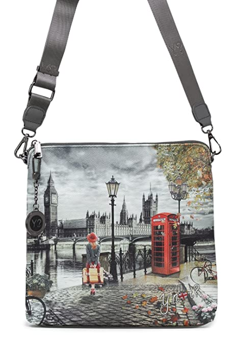 YNOT BORSA DONNA SHOULDER BAG IPAD K-316 unica londra  Amazon.it  Scarpe e  borse 4e91969fdf1