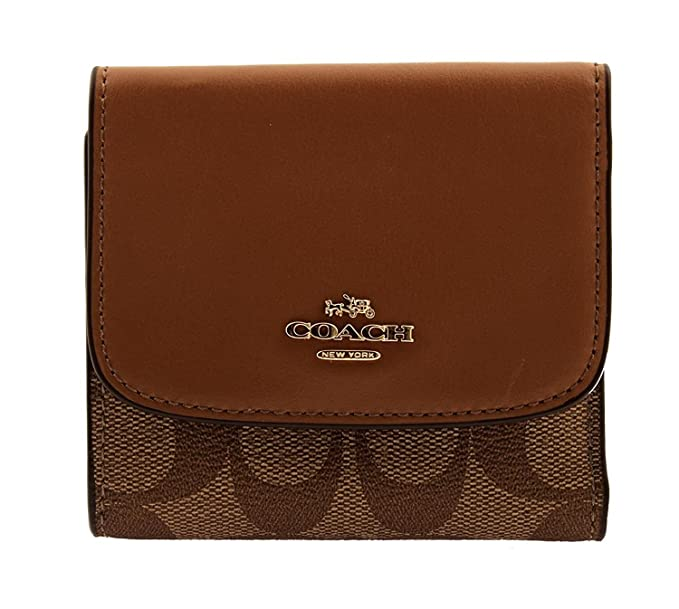 best service d65b2 03485 COACH Small Wallet in Signature Coated Canvas, F87589 ...