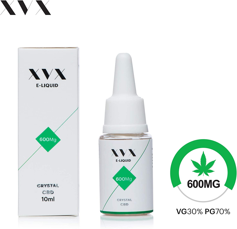 XVX CBD E Liquid Crystal 600mg Flavourless 10ml PG70 VG30 with Terpenes, Phytocannabinoids & Essential Oils Nicotine Free