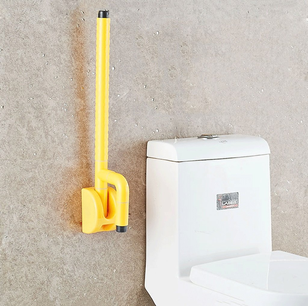 Elderly toilet armrests Accessible bathroom foldable overturned safety handrail with spring ( Color : Yellow ) by LI SHI XIANG SHOP (Image #4)