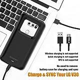 LG V30 Battery Charger Case, Newdery 4200mAh Slim