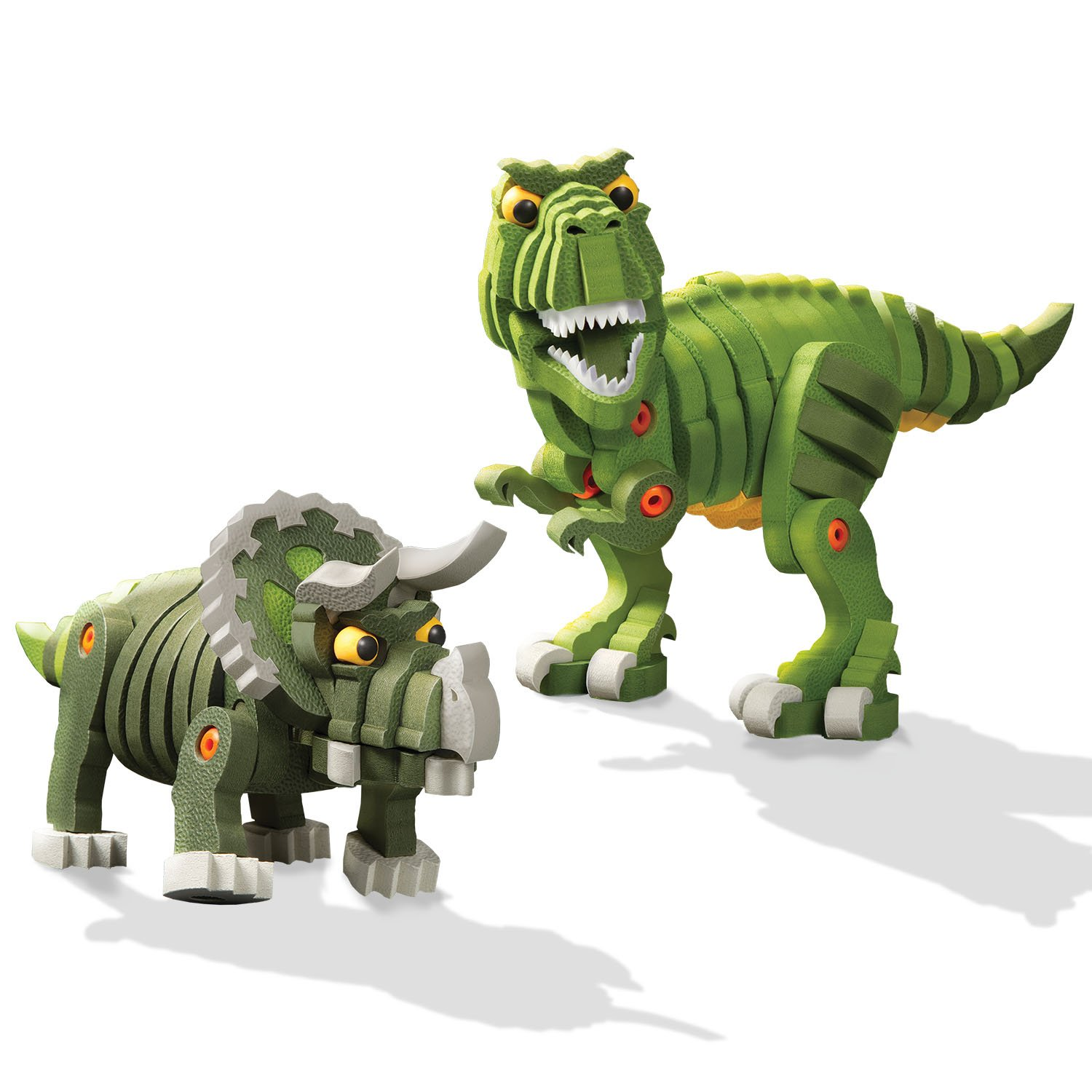 amazoncom bloco toys t rex and triceratops toy toys games