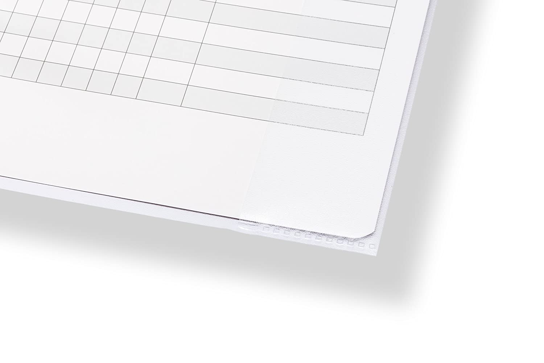 Buch-Schoner mit Einband perfect line 25 Heft-H/üllen DIN-A5 transparent Heft-Umschlag flexibel /& abwischbar Umschl/äge f/ür Schul-Hefte Schutz-H/ülle f/ür Arbeit
