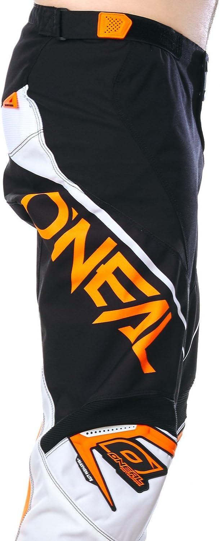 Black//White//Orange 0130-128 28//44 ONeal 0130A-1 Mayhem Lite Pantalon blocker Noir//blanc Pour moto MX motocross enduro hors-piste quad