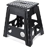 ACKO 踏み台 折り畳みステップ コンパクトスツール ブラック 脚立 クラフタースツール 子供用大人用 (40cm)