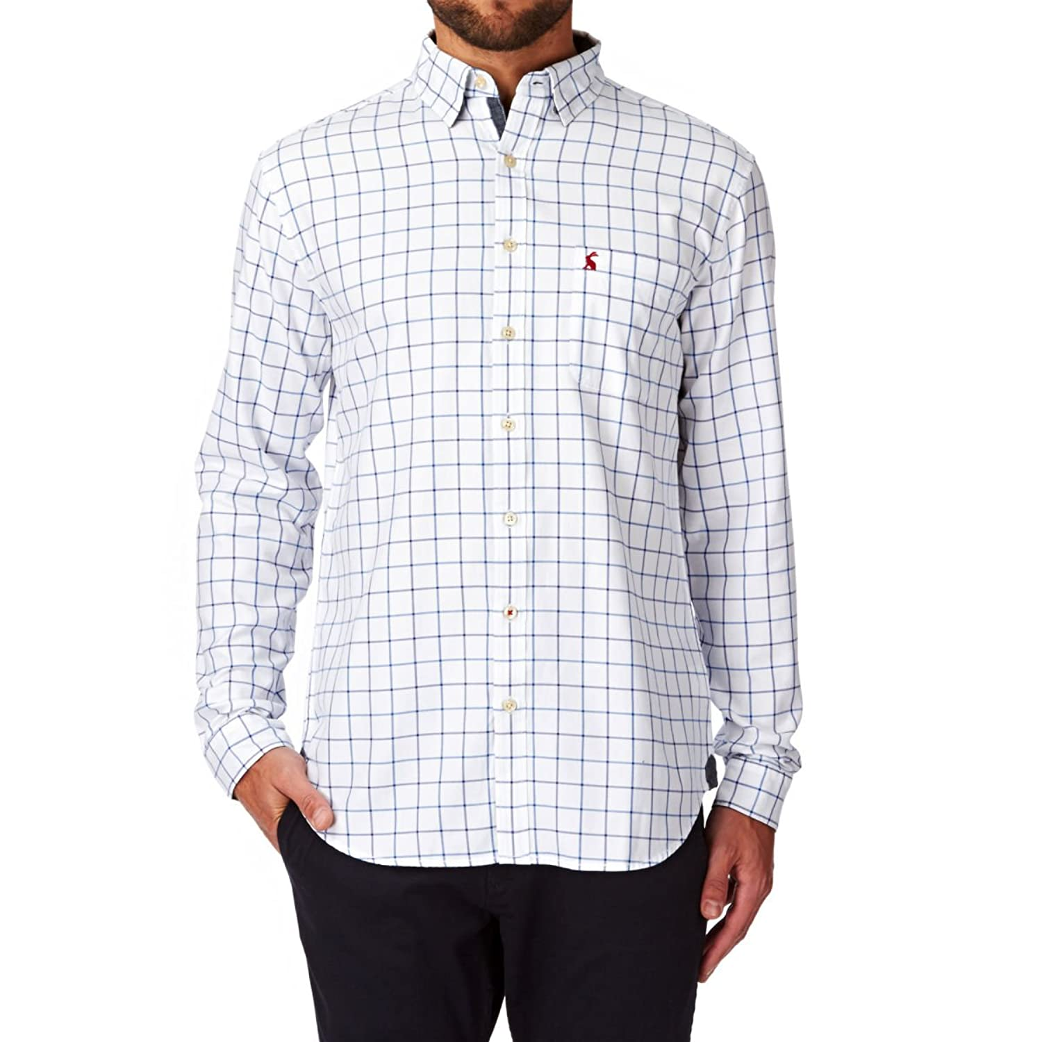 Joules Mens Wilby Classic Shirt in Blue Check
