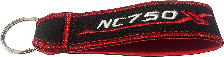 1 pz NC750X portachiavi doppia faccia con cordino