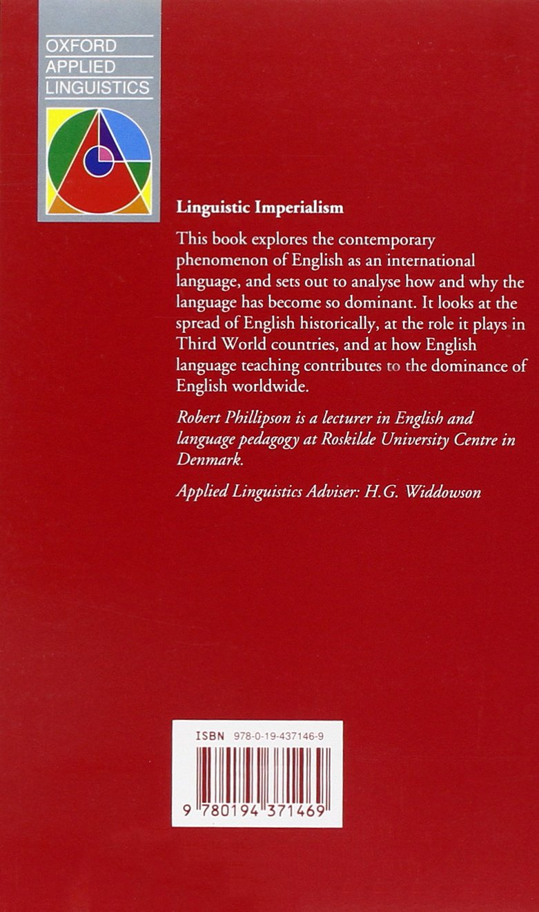 Linguistic Imperialism (Oxford Applied Linguistics) by Oxford University Press
