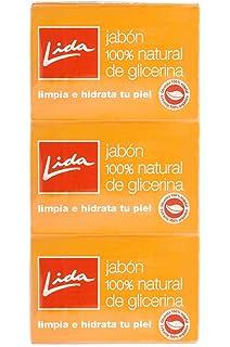 Lida - Jabón pastilla glicerina, 3 unidades