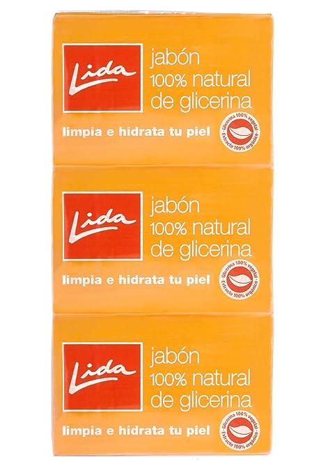 Lida Jabón Pastilla Glicerina, 3 x 125 g