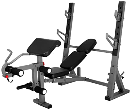 Amazoncom XMark International Olympic Weight Bench with Leg and