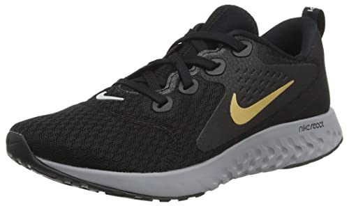 more photos c4713 34a43 Nike Legend React, Scarpe Running Donna, Multicolore (Black Metallic Gold  Atmosphere