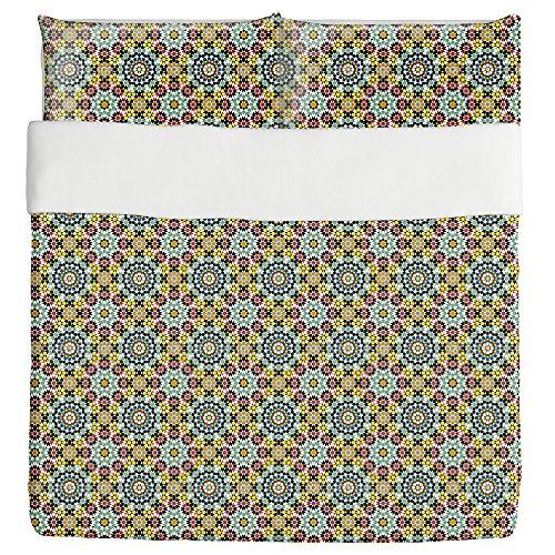 Fes Duvet Bed Set 3 Piece Set Duvet Cover - 2 Pillow Shams - Luxury Microfiber, Soft, Breathable by uneekee